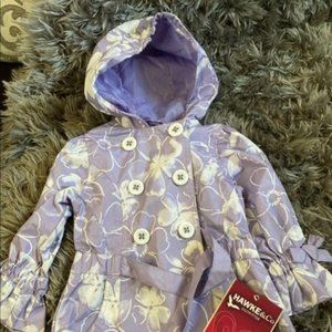Toddler 2T NWT Girls Raincoat Hawke and Co